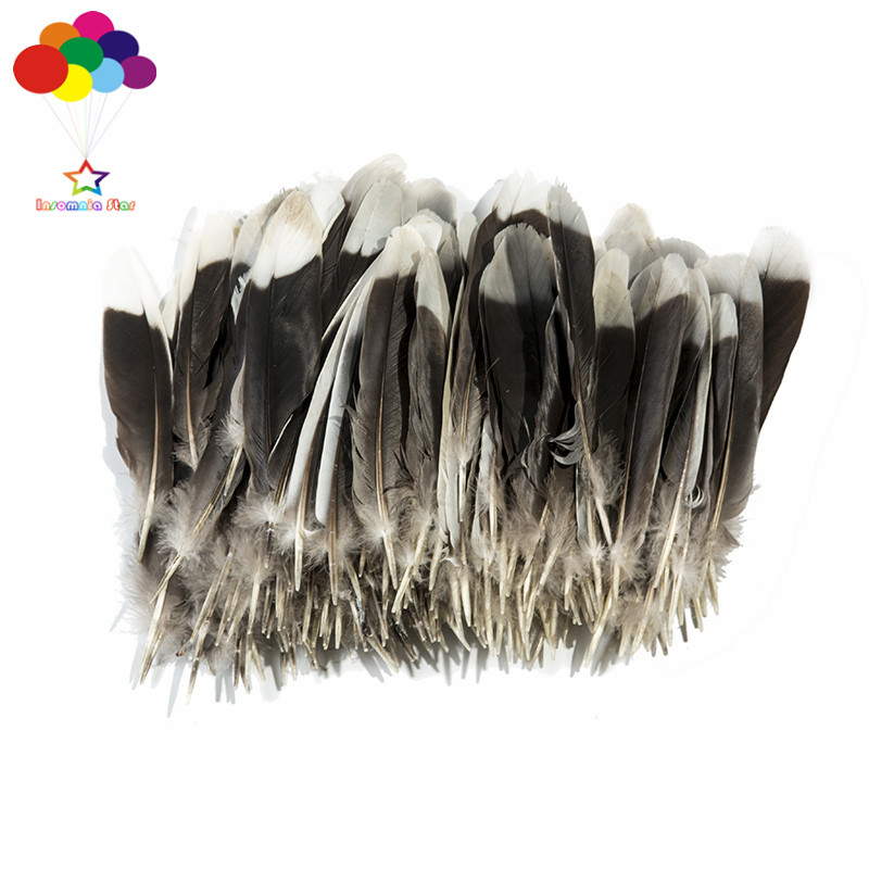 The new 20 PCS natural beauty 10-15 cm (4 to 6 inches) the magpies wings MAO MAO DIY decoration accessories arts and crafts