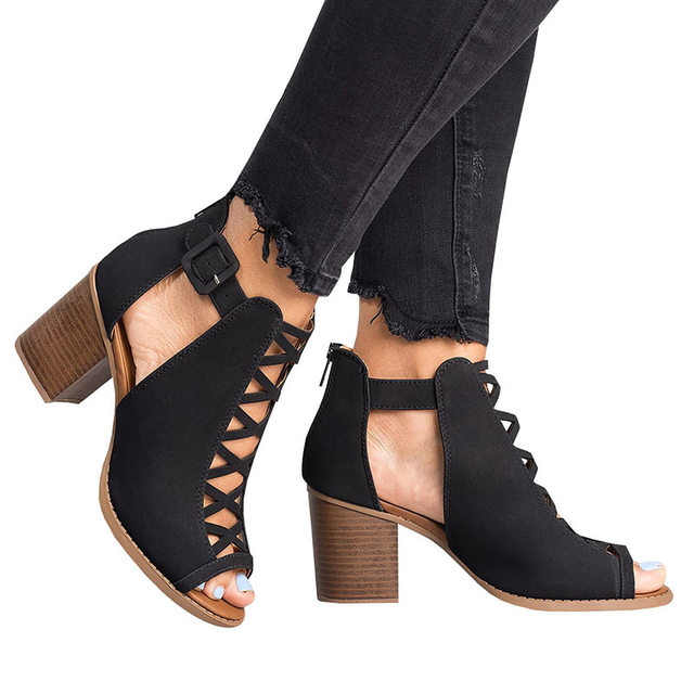 Alto Cuña De Zapatos Cómodos Plataforma Para Tacón Sandalias Abierta Gladiador Punta Verano Mujer DEY9WH2I