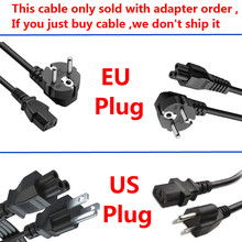 AC Power Cord with EU / US PLUG For Adapter Power Charger