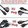 Cable de alimentación de CA con enchufe europeo/estadounidense para adaptador de cargador de corriente