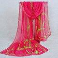 Женские вуаль шарфы горячий! 2015 новинка большой XQ59 цветы шифоновый шарф тонкий срез богемия шелковые шарфы оптовая продажа