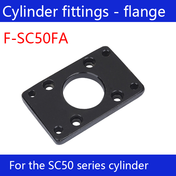 Free shipping  Cylinder fittings 1 pcs flange joint F-SC50FA, applicable  SC50 standard cylinderFree shipping  Cylinder fittings 1 pcs flange joint F-SC50FA, applicable  SC50 standard cylinder