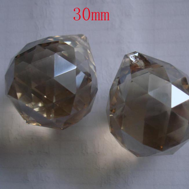 10pcs/lot 30mm cognac crystal ball for door curtain decor wedding garland strand free shipping