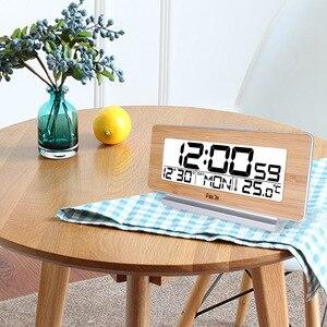 Image 5 - FanJu FJ3523 Digital Alarm Clock LED Electronic 12H/24H Alarm and Snooze Function Thermometer Backlight Desktop Table Clocks