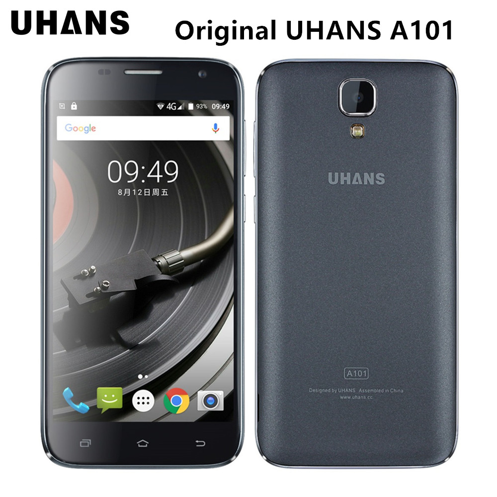 Original uhans a101 5.0 pulgadas hd 4g lte teléfono móvil android 6.0 mtk6737 quad core 1 gb + 8 gb dual sim dual lente smartohone