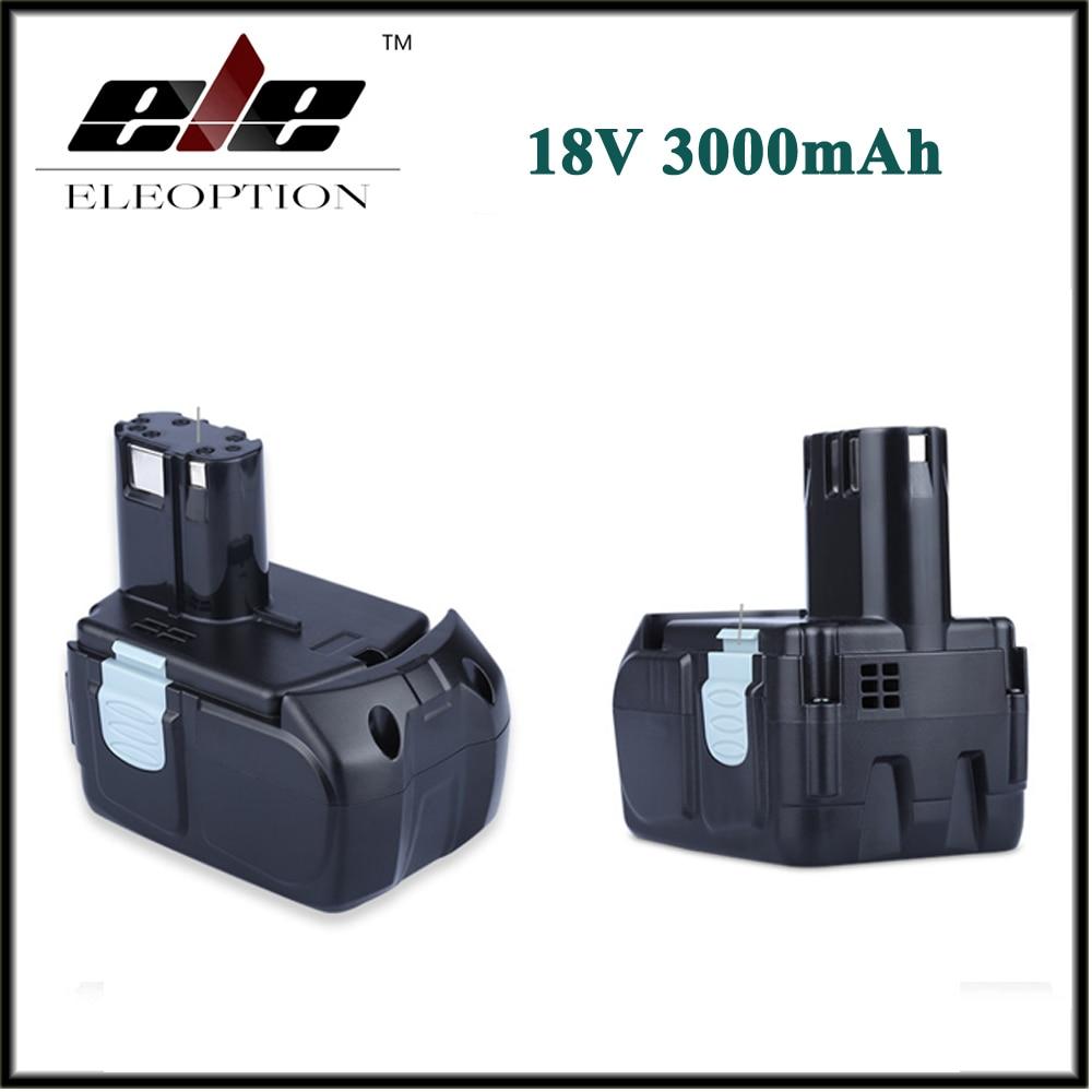 2 PZ ELEOPTION 18 V 3000 mAh Li-Ion Power Tools Batteria per HITACHI Trapano BCL1815 BCL1830 EBM1830 3277302 PZ ELEOPTION 18 V 3000 mAh Li-Ion Power Tools Batteria per HITACHI Trapano BCL1815 BCL1830 EBM1830 327730