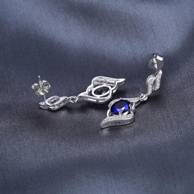 Blue Sapphire Drop Earrings