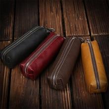 Сумка для ключей из натуральной коровьей кожи для мужчин и женщин, маленькая сумка для ключей в деловом стиле Kay, чехол для женщин, ключницы,, кошелек, брелок, кошелек
