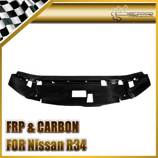 Pour Nissan horizon R34 GTR Fibre de carbone Garage défendre Style panneau de refroidissement Fibre moteur accessoires voiture-Style