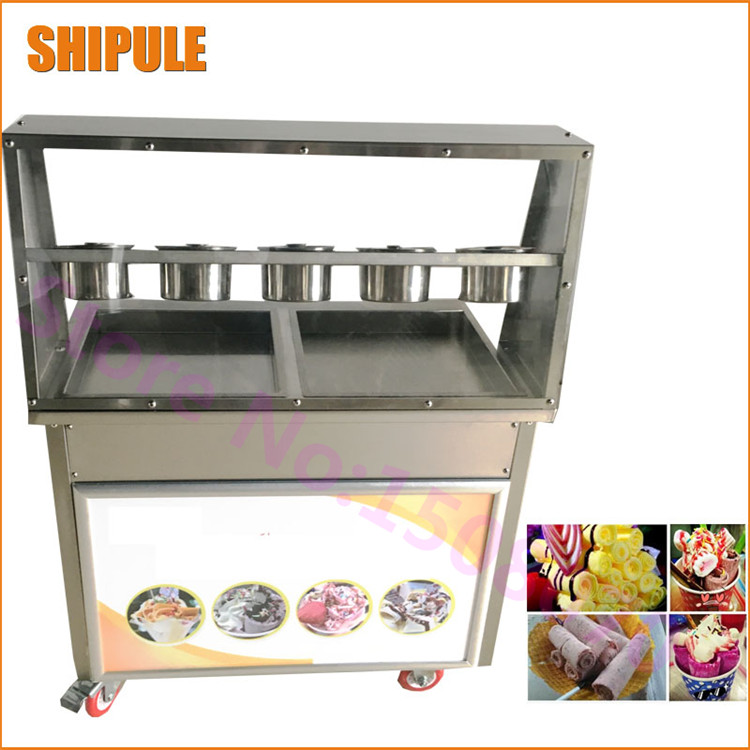 Snack Food Processing Machinery Electric Fried Ice Cream Machine Rolled Fried Ice Cream Machine For Sale brand bonnet beanies knitted winter hat caps skullies winter hats for women men beanie warm baggy cap wool gorros touca hat d132