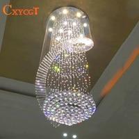 New Modern Chandelier LED Crystal Lamps Long Pendant Chandelier Lustres De Cristal Kronleuchter AC110 240V Stair