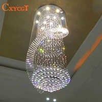 new modern chandelier LED crystal lamps long pendant chandelier lustres de cristal kronleuchter,AC110-240V stair chandelier