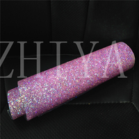 24*40 cm AB Crystal Clear Resin Strass Trim Ijzer op Strass Mesh Sticker voor Telefoon Art