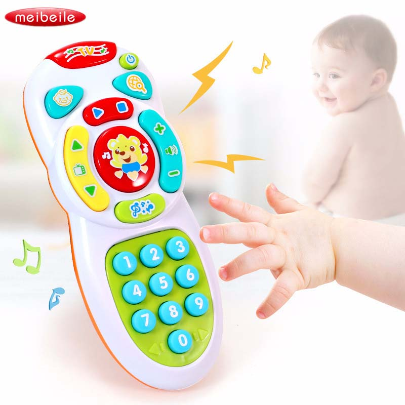 Baby Toys Music Mobile Phone TV Remote Control Early Educational Toys Electric Count Remote Learning Machine Toy Gifts