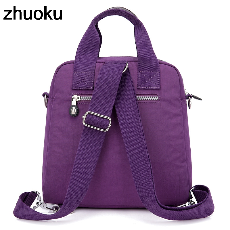 Image 3 - Women Messenger Bags Light Travel Handbag Waterproof Nylon Double Shoulder Bags Casual Quality Crossbody bag Lady Flap ToteTop-Handle Bags   -