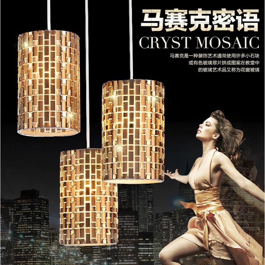 Lampara Techo Foscarini Modern 3pcs/LOT Crystal Pendant Lamp Light Suspension Luminaire LED Lampara Techo Foscarini LED Pendant