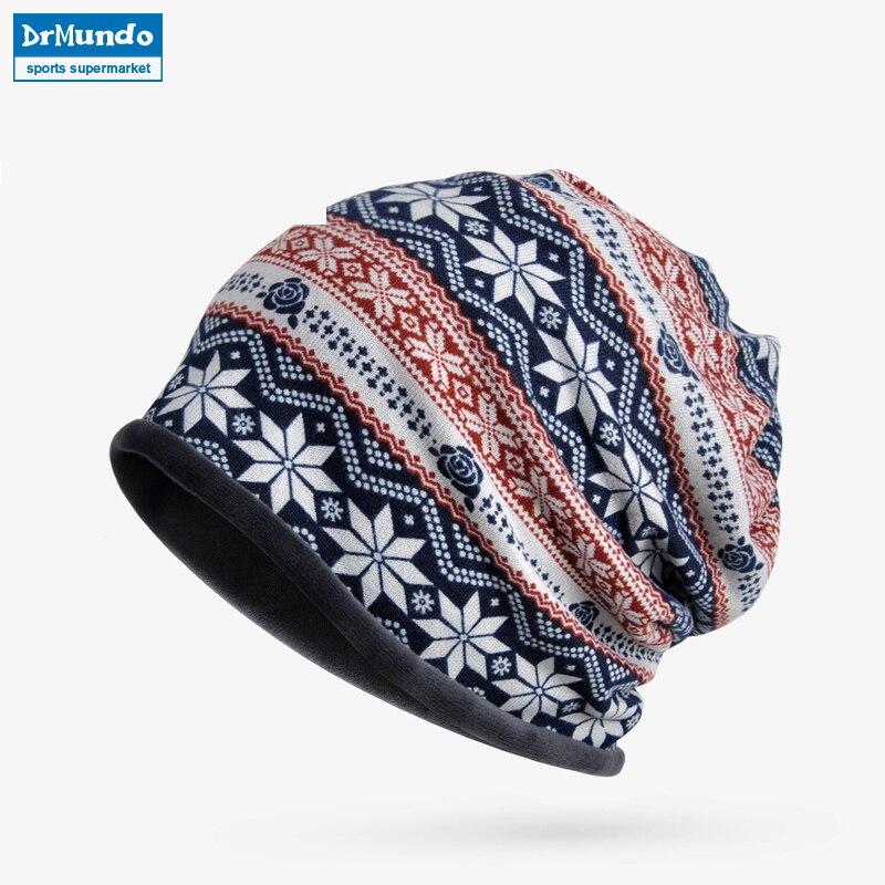 Winter Ski Face Mask Fleece Beanie Hats Dual-use Men French Velvet Outdoor Cycling Skiing Bibs Hat Women Bonnet Hat Mask Scarf