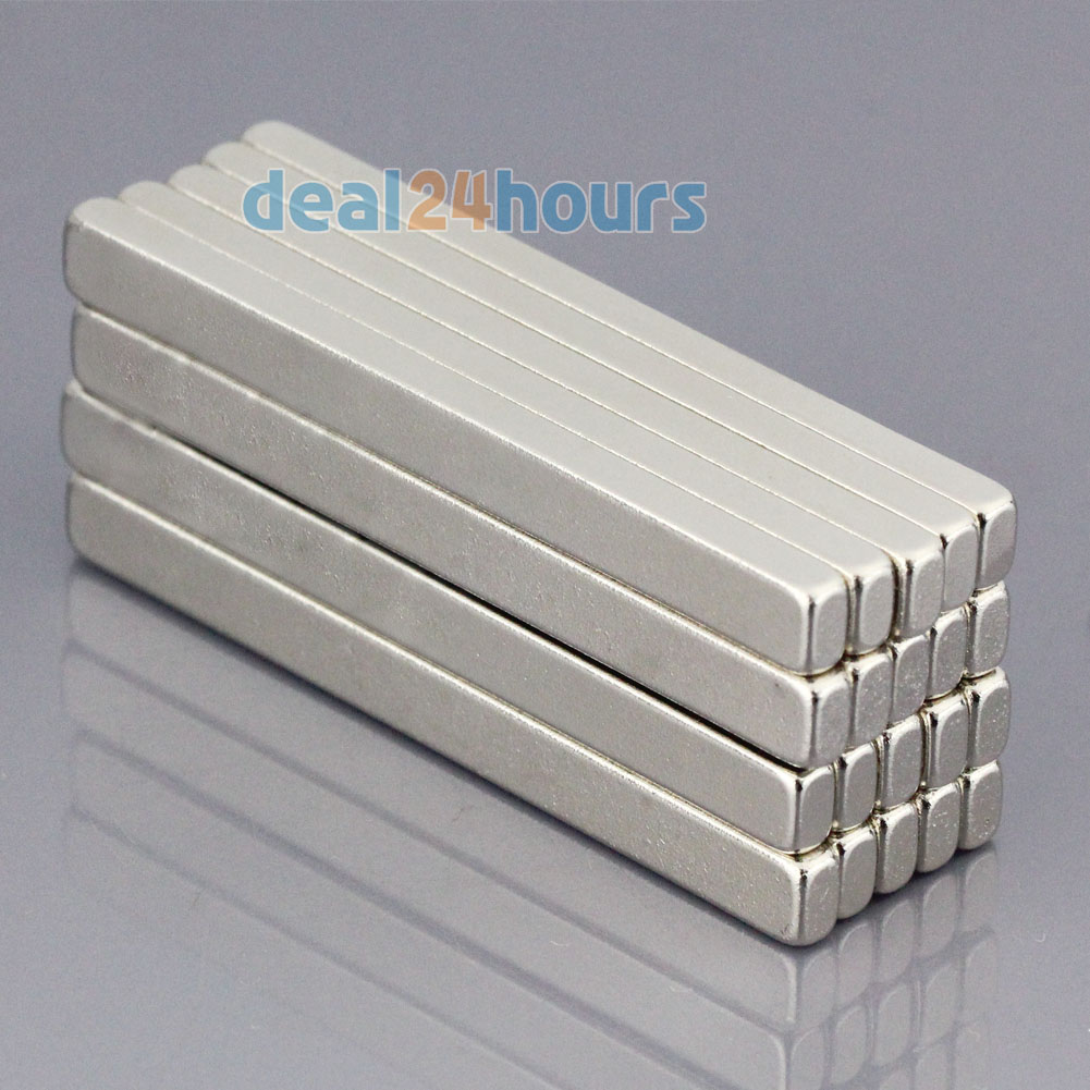 10Pcs Small Block Cuboid Magnets 20mm x 5mm x 3mm  Rare Earth Neodymium N50