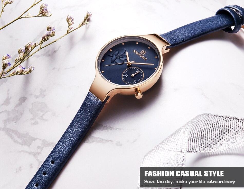 ... de la banda  11mmPeso  28gRelojes de mujer NAVIFORCE marca de lujo de moda  reloj de pulsera con diamantes de imitación para mujer reloj de pulsera  reloj ... 18a2e20b8bf5