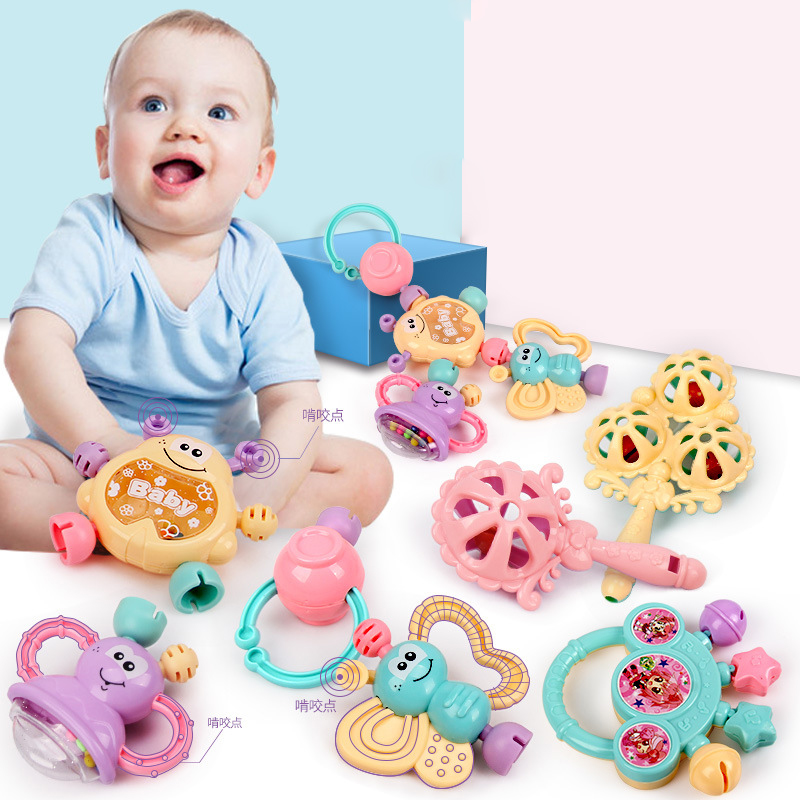 Baby Rattles Baby Toy 0-1 Year Old Newborn Teethers Baby Hand Rattles Combination Newborn Baby Toys Teether Rattles