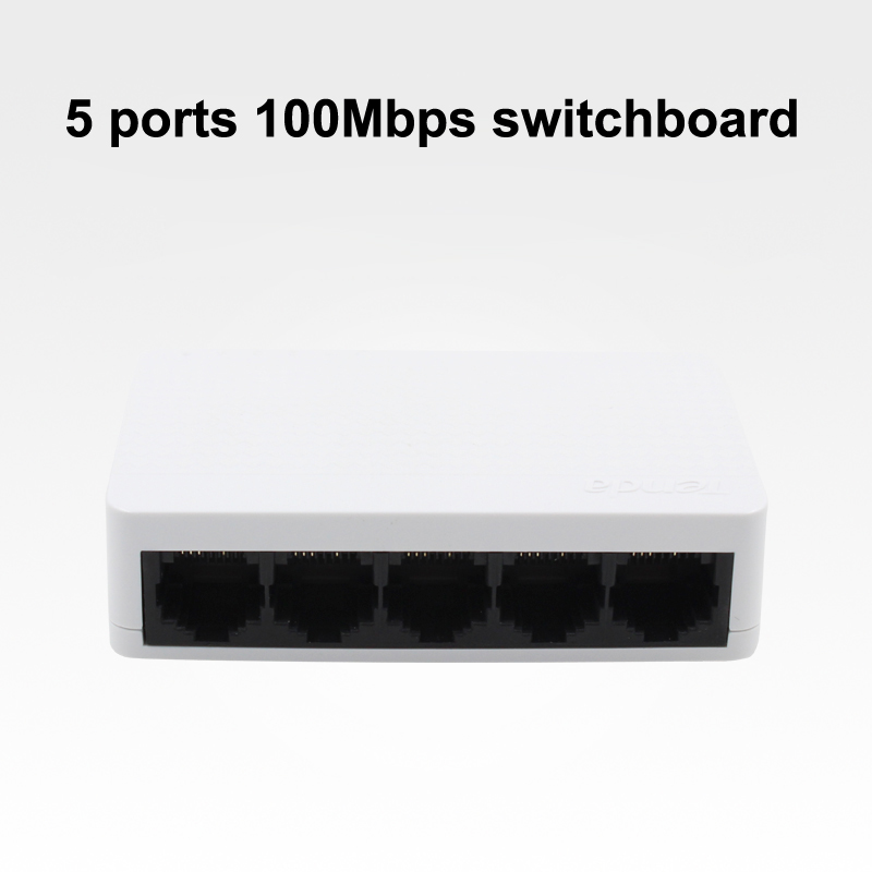 TEND 5 ports switchboard 100Mbps ethernet switch network exchanger network cable splitter low power consumption monitor switch