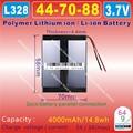 [L328] 3.7V,4000mAH,[447088] PLIB ( polymer lithium ion / Li-ion battery ) for tablet pc;power bank;dvr