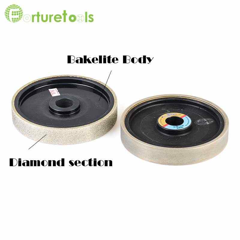 Terrific 6 Bakelite Metal Body Parallel Grinding Wheel Electroplated Abrasive Wheel Bench Grinder Parts For Emery Jade Polishing E026 Bralicious Painted Fabric Chair Ideas Braliciousco