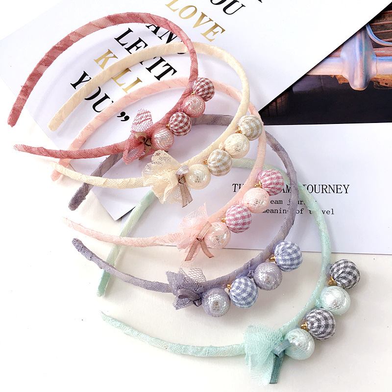 Korea Lovely Doll Flower Hair Accessories For Girls High Quality Hair Band Headband Hair Bow Princess 4