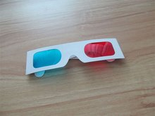 New Red/Blue Paper Card 3D 3-D Anaglyph Glasses paper 3d glasses 200 pieces P-01