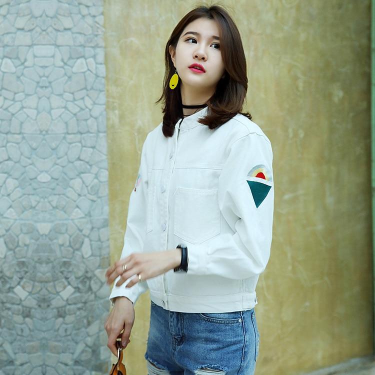 2017 otoño invierno moda desgin clothing mujeres cuff zipper vintage jeans chaqu