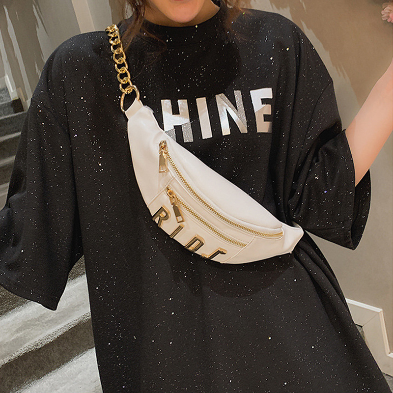 Waist Bags For Women 2019 PU Fanny Pack Crossbody Fashion Letters Waist Pack Belt Bag Multi-function Band Belt Zipper Bag Wallet
