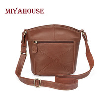 Miyahouse Large Capacity Shoulder Bag For Women Litchi Pattern Messenger Bag For Female PU Leathe Casual Crossbody Bag Lady