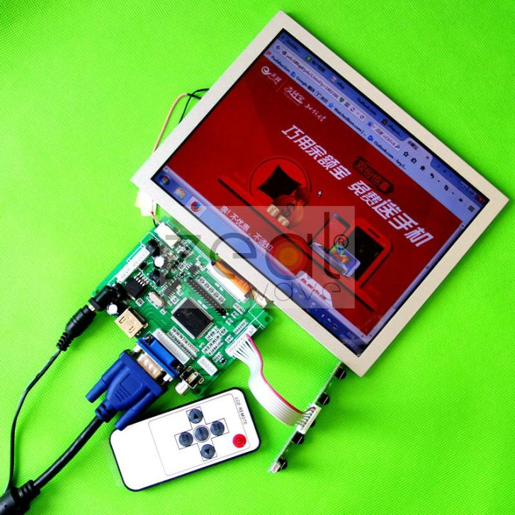 HDMI+VGA+2AV+Revering Driver Board +8inch 800*600 AT080TN52 LCD For Raspberry Pi vga 2av revering driver board 8inch 800 600 lcd panel ej080na 05b touch panel