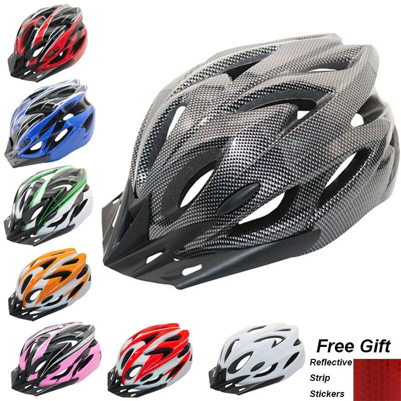 Capacete de ciclismo totalmente moldado super leve mtb mountain road bicicleta capacete para mulher e homem casco capacete 56-63 cm
