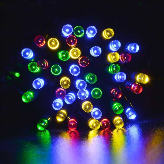 Christmas Led Solar Light Powered Fairy String Lights 100LED 12m 8 Modes For Christmas Tree Decorations Garden New Year Led Lamp