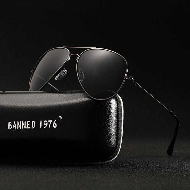 Prohibido clásico 1976 polarizadas HD de Metal Marco de gafas de sol de diseño de las mujeres de los hombres femenino nombre de marca, gafas Vintage gafas 2