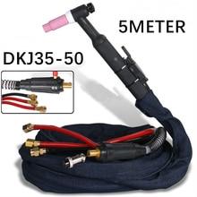 WP18 SR18 5 м 16 ножной кабель Tig фонарь в комплекте W350 TIG пистолет с водяным охлаждением аргоновый Tig сварочный фонарь es DKJ35-50 быстрый разъем