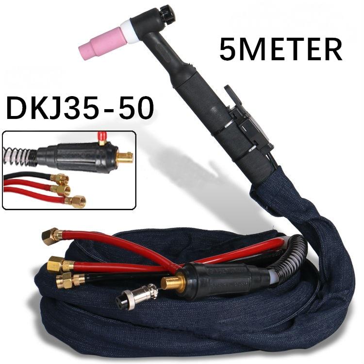 WP18 SR18 5M 16 Fuß Kabel Tig Torch komplette W350 TIG Gun Wasser Gekühlt Argon Tig Schweißen Fackeln DKJ35-50 schnell stecker