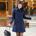2016 новое прибытие пальто женщин осень зима пальто Корейский стиль тонкий средней длины шерсть пальто женщин