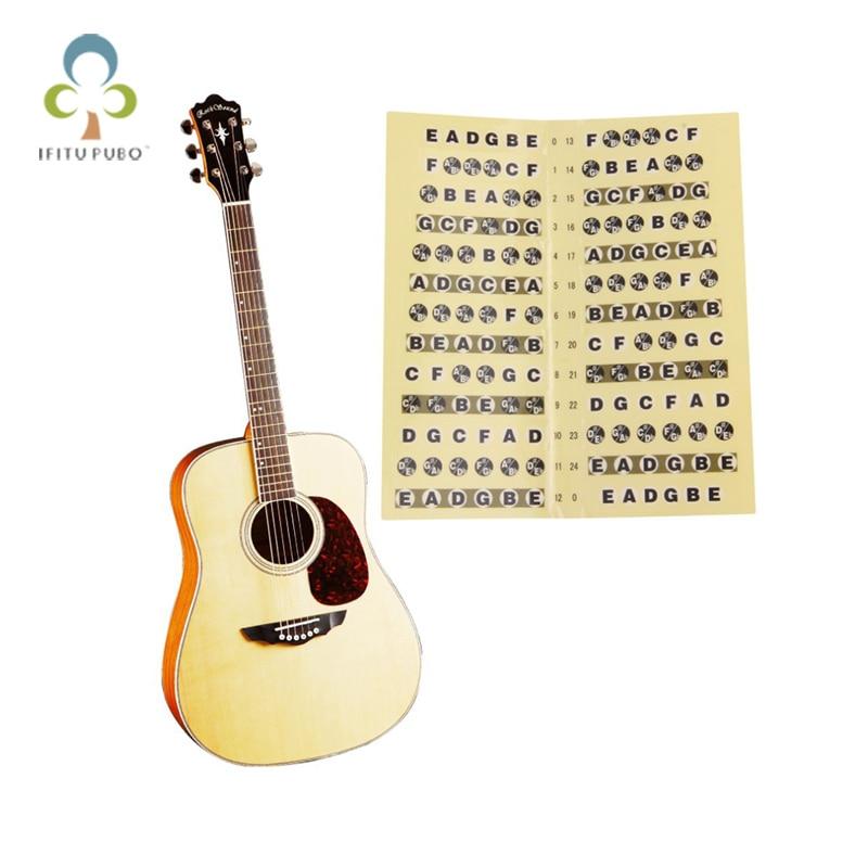 2pcs lot acoustic electric guitar fretboard note music sticker decal neck fret sticker on guitar. Black Bedroom Furniture Sets. Home Design Ideas