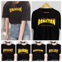 HAHAYULE-JBH Flame Graphic Tee 2019 new Summer Fashion 100% Cotton Casual t-shirt 90s Fashion Funny T-Shirt Short Sleeves Cool(China)