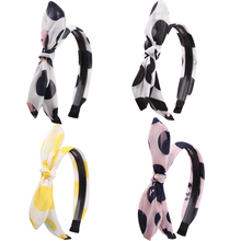 Fashion Women Bow Headband Hair Hoop Wide-Brimmed Lady Retro Wave Simple Band Adult Headbands