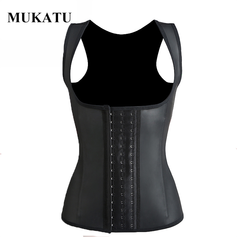 Steel Bone Slimming Vest Latex Corset Underbust Plus Size Women Shapewear Waist Trainer Vest Body Shaper Control Underwear