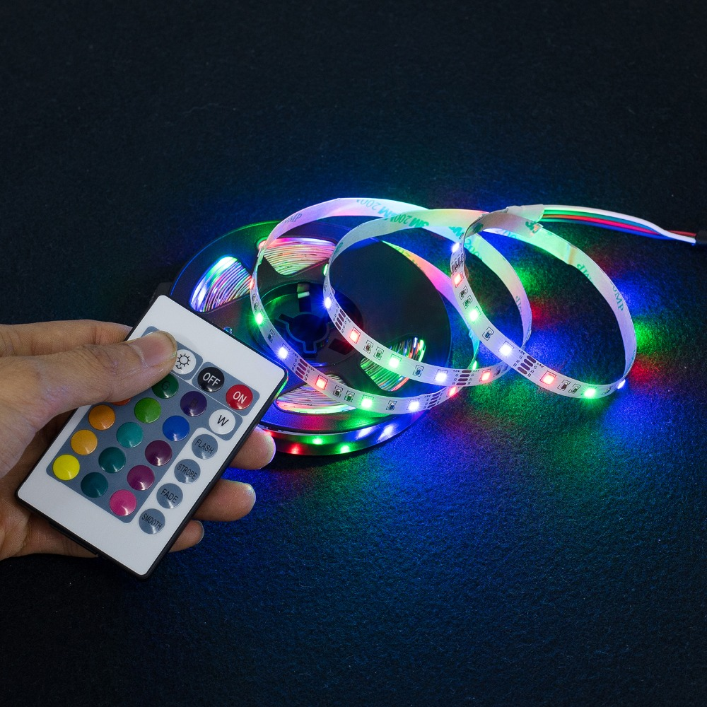 LED Strip Light USB 2835SMD DC5V Flexible LED Lamp Tape Ribbon RGB 0.5M 1M 2M 3M 4M 5M TV Desktop Screen BackLight Diode Tape 6