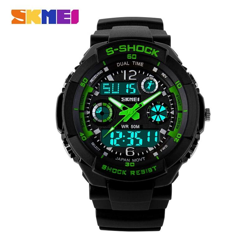 2016 New SKMEI Luxury Brand font b Men b font Military Sports Watches Digital LED Quartz