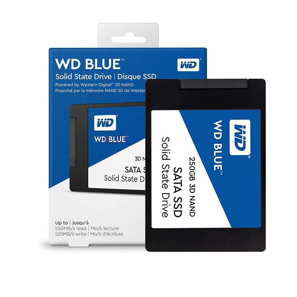 Western Digital WD Bleu SSD interne Solid State Disque Dur 250 GO SATA 6 Gbit/s 2.5 WDS250G2B0A 3D NAND SATA SSD 250 GB