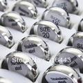Бесплатная Доставка 50 шт. Оптовая Продажа Ювелирных Изделий Из Нержавеющей стали Дуги Серебряная Равнина Кольца Подвески Женщин Людей Кольца A352