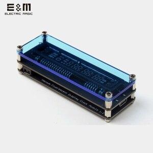Мини VFD дисплей Канал Буквы цифровые часы музыкальный уровень USB электронные часы вакуумный флуоресцентный модуль Дисплей er светодиодный с...