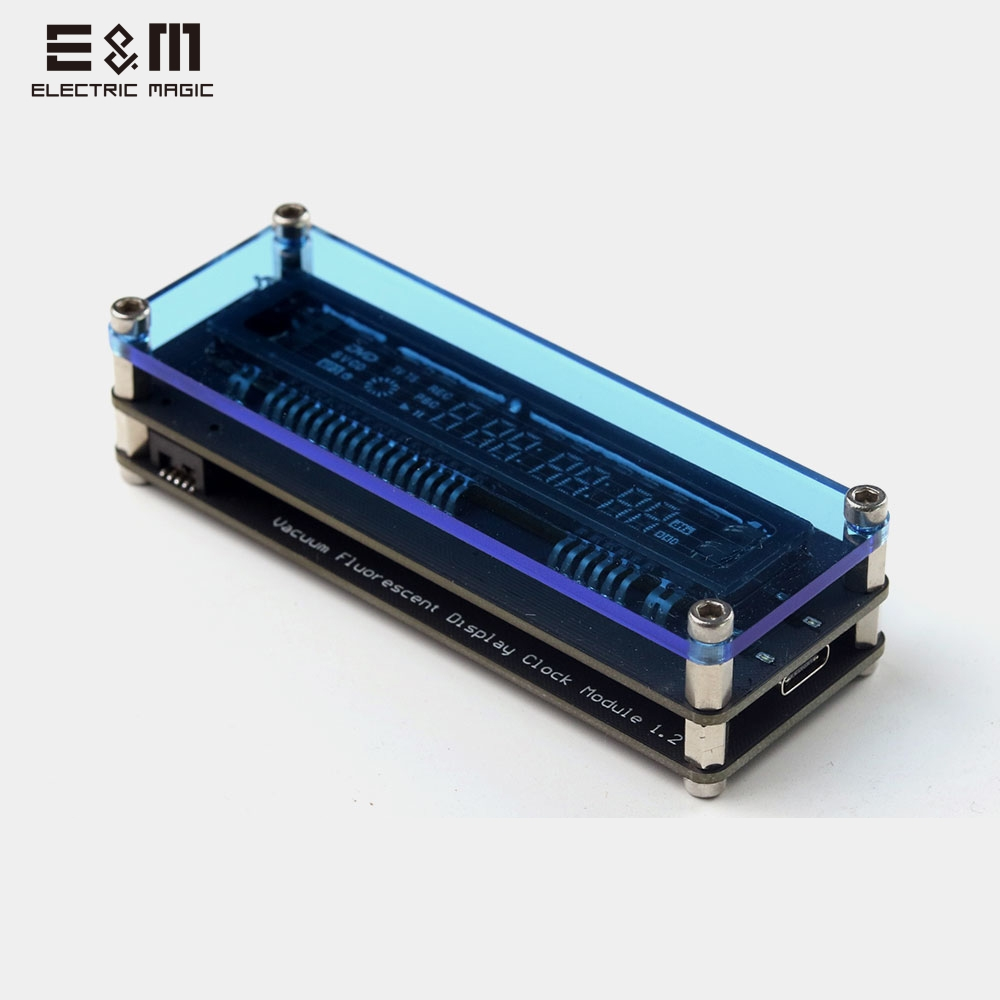 Mini VFD Display Channel Letter Digital Clock Music Level USB Electronic Clock Vacuum Fluorescent Module Displayer LED Spectrym