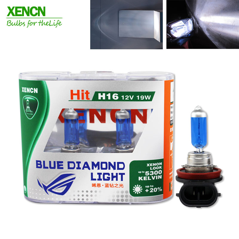 XENCN H16 12V 19W 5300K Blue Diamond Light Super White Excellent Quality Fog Headlight Halogen Lamp For  Scion,Dodge,VW New 2Pos